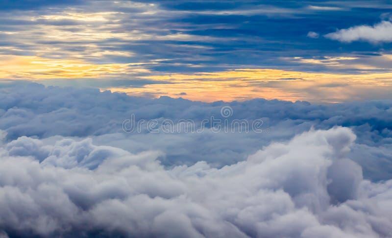 nad chmura widok fotografia royalty free