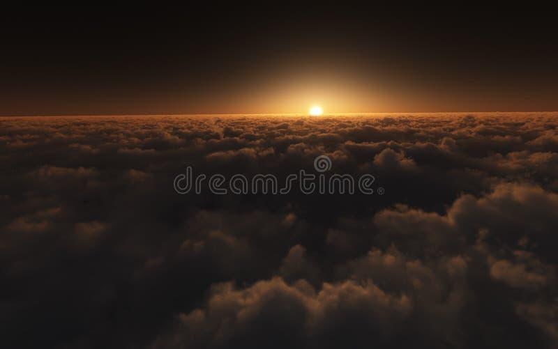 nad chmura zmierzch zdjęcie stock