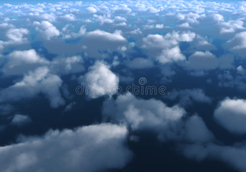 nad chmury royalty ilustracja