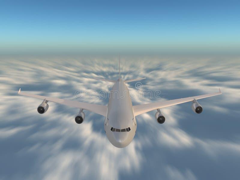 nad chmury prędkość royalty ilustracja