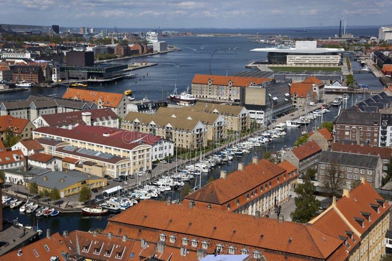 nad Copenhagen Denmark fotografia stock