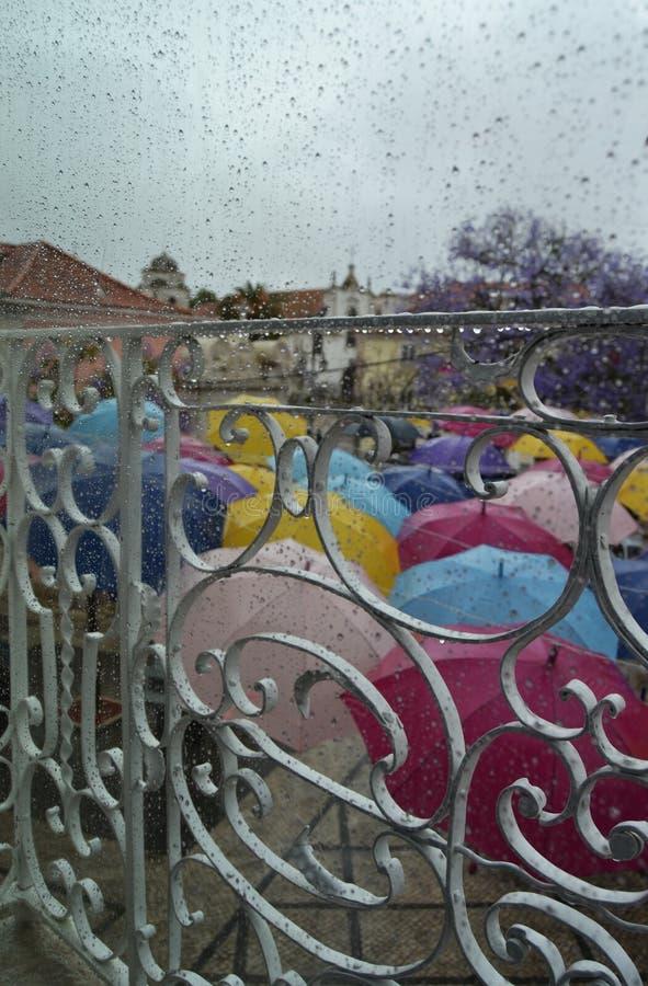 Nad deszczowym dniem obrazy royalty free