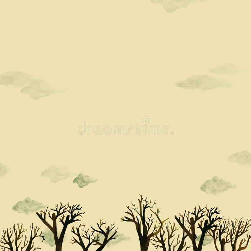 Nad drzewami royalty ilustracja