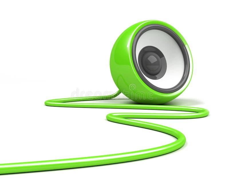 nad głośnikowym biel kablowa zieleń ilustracji