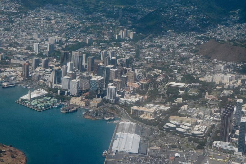 Nad Honolulu obrazy stock