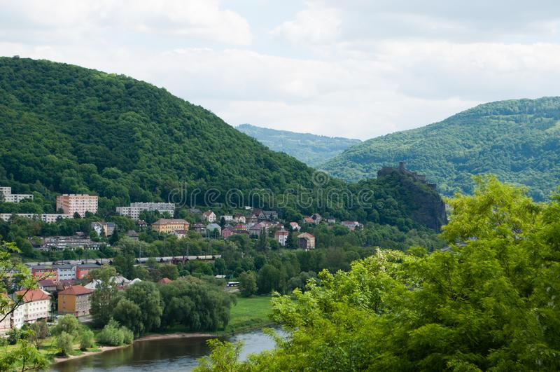 NAD Labem, Βοημία, Δημοκρατία της Τσεχίας Usti στοκ εικόνες