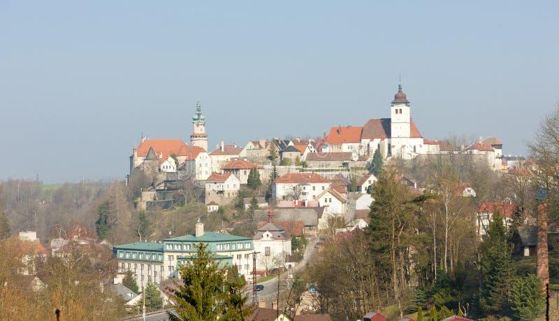 Nad Metuji, Tsjechische republiek van Novemesto stock fotografie