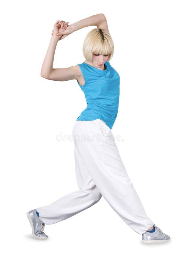 nad nastoletnim biel dancingowa dziewczyna zdjęcie royalty free