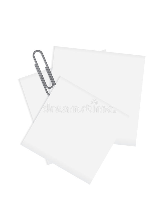 nad papierowym paperclip szarości tylna pusta notatka obraz royalty free