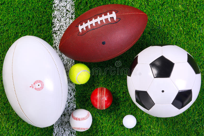 nad piłek trawy sporty fotografia stock