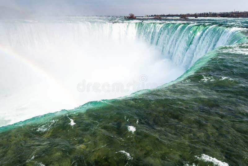 Nad podkowa spadków Niagara spadkami, kanadyjczyków spadki obrazy stock