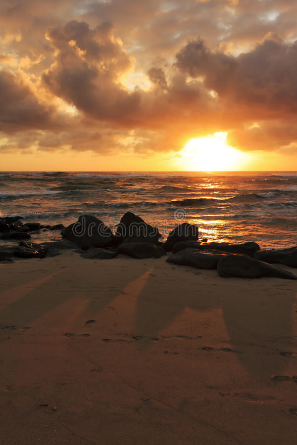 nad pokojowym wschód słońca zdjęcie stock