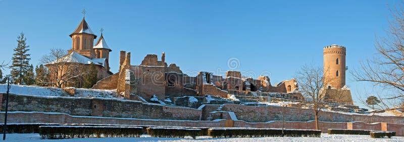 nad ruina śniegiem obrazy royalty free