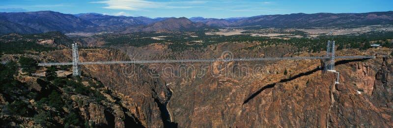Nad rzeka Wąwozu królewski Most, CO obrazy royalty free