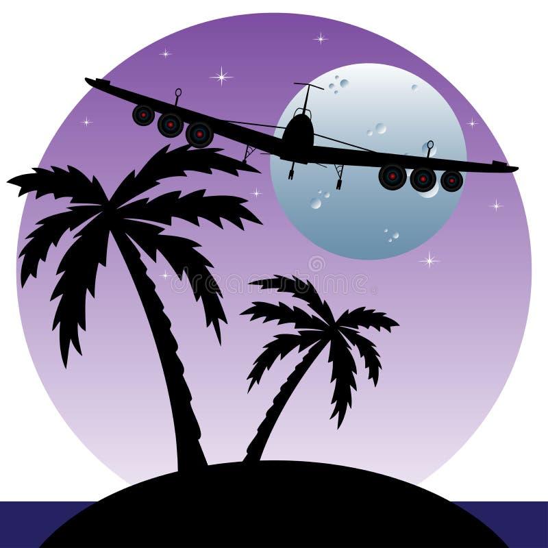 nad samolotem latająca wyspa ilustracja wektor