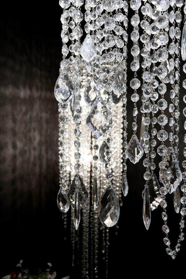 nad strass biały tło lampa czarny krystaliczna zdjęcie stock