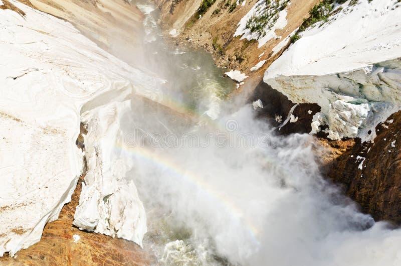 nad tęczy rzeką Yellowstone zdjęcie stock