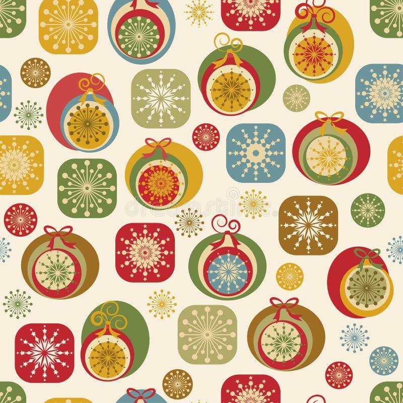 Nad van Kerstmis de naadloze achtergrond van het Nieuwjaar stock illustratie