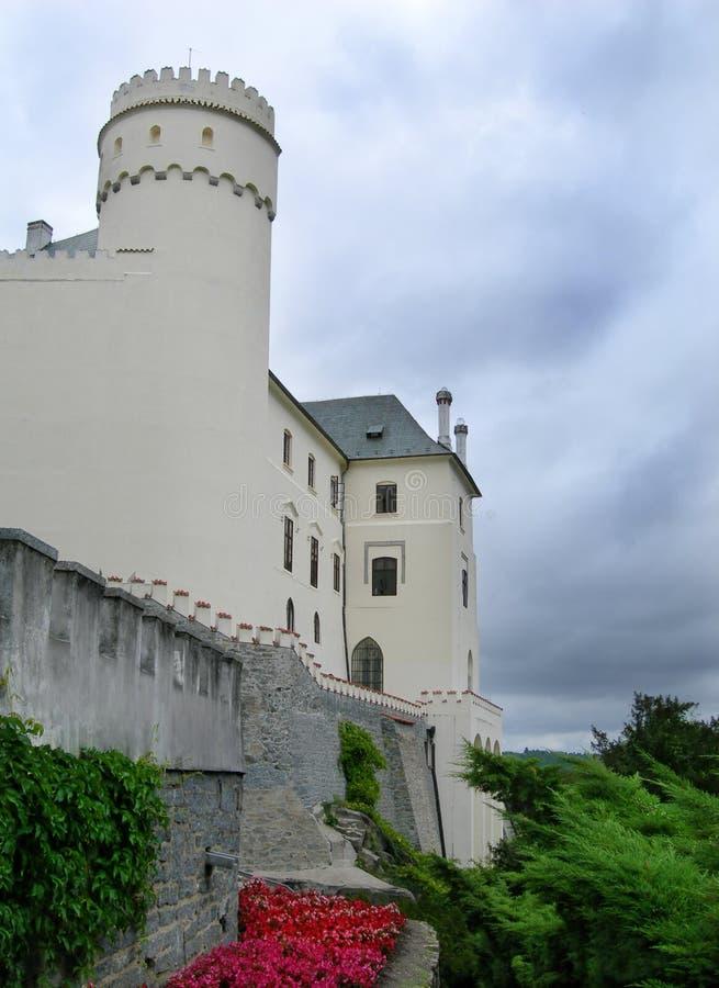 Nad Vltavou van Orlik kasteel, Zuid-Bohemen, Tsjechische Republiek royalty-vrije stock afbeelding