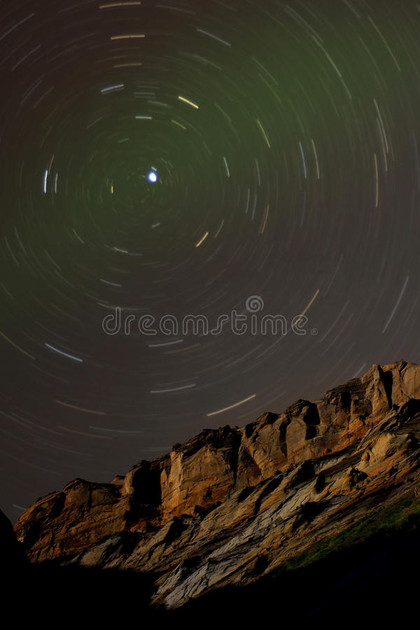 nad wokoło falezy polaris piaskowa gwiazdy ślada obrazy royalty free