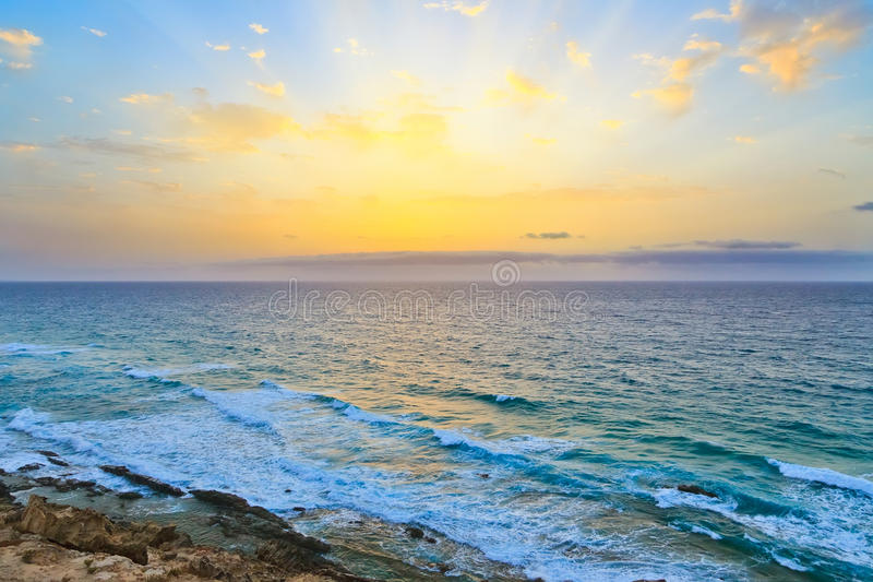 Nad Wschód Słońca Atlantycki Ocean Obraz Stock