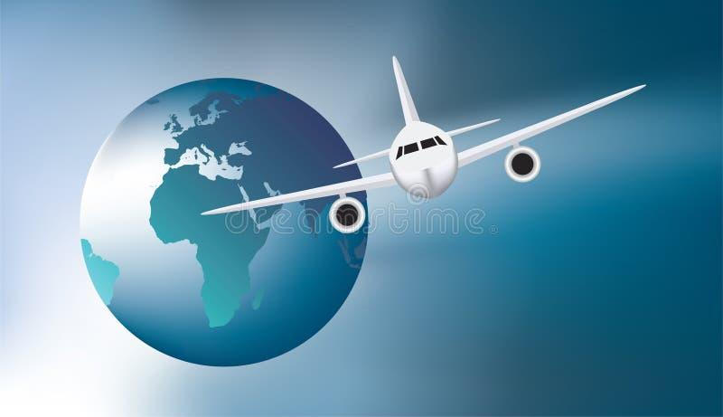 nad ziemskiego samolotu target913_0_ royalty ilustracja