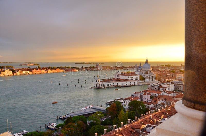 nad zmierzchem Venice zdjęcie stock