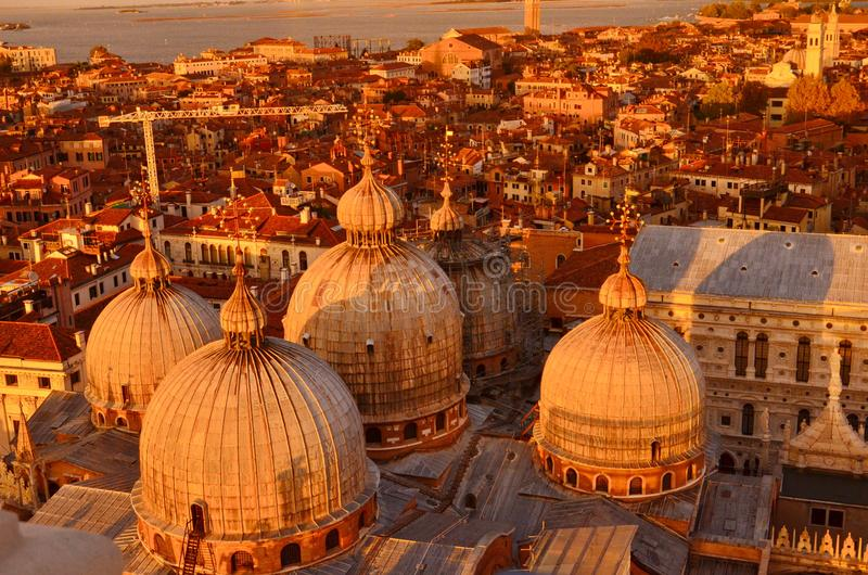 nad zmierzchem Venice fotografia royalty free