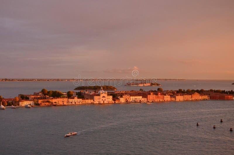 nad zmierzchem Venice fotografia stock