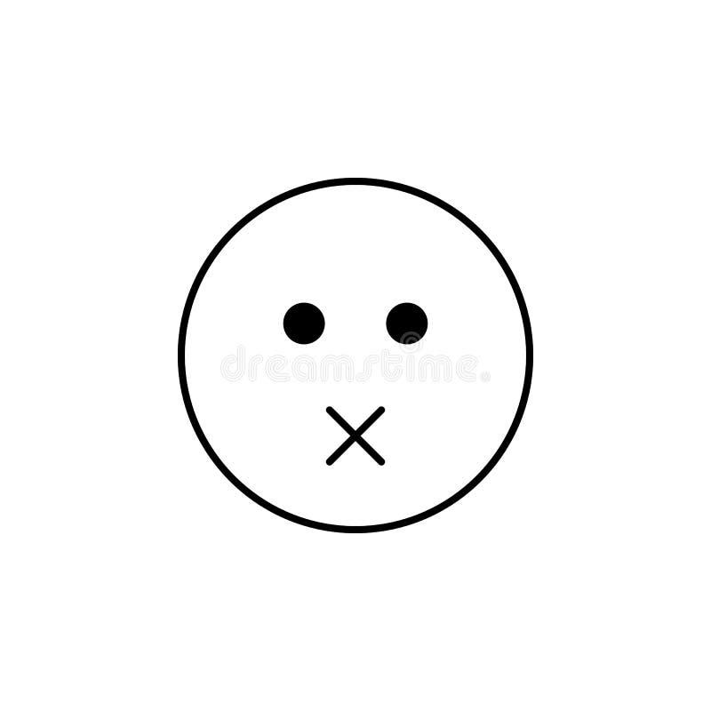 nada dizer o ícone Grupo detalhado de avatars de ícones das profissões Linha superior projeto gráfico da qualidade Um do ícone da ilustração do vetor
