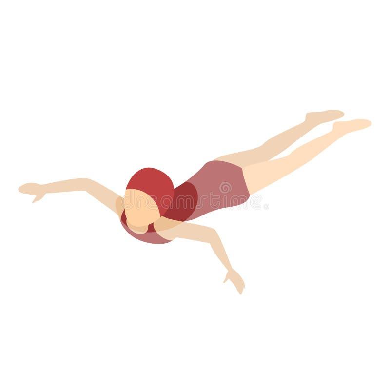 Nadada de la chica joven en la piscina de la escuela libre illustration