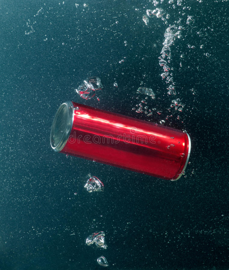 Nadada del estaño imagen de archivo