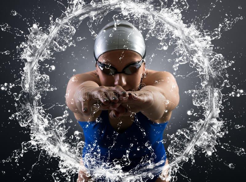Nadador foto de archivo libre de regalías