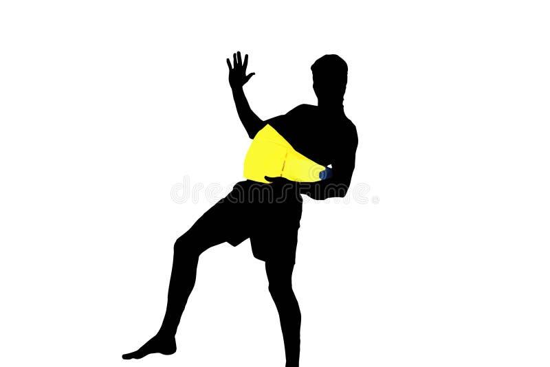 Nadador com aletas ilustração do vetor