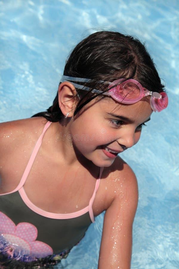 Nadador fêmea novo imagem de stock royalty free