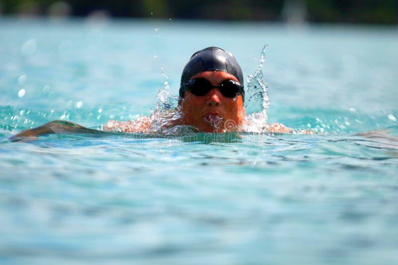 Nadador joven fotografía de archivo libre de regalías