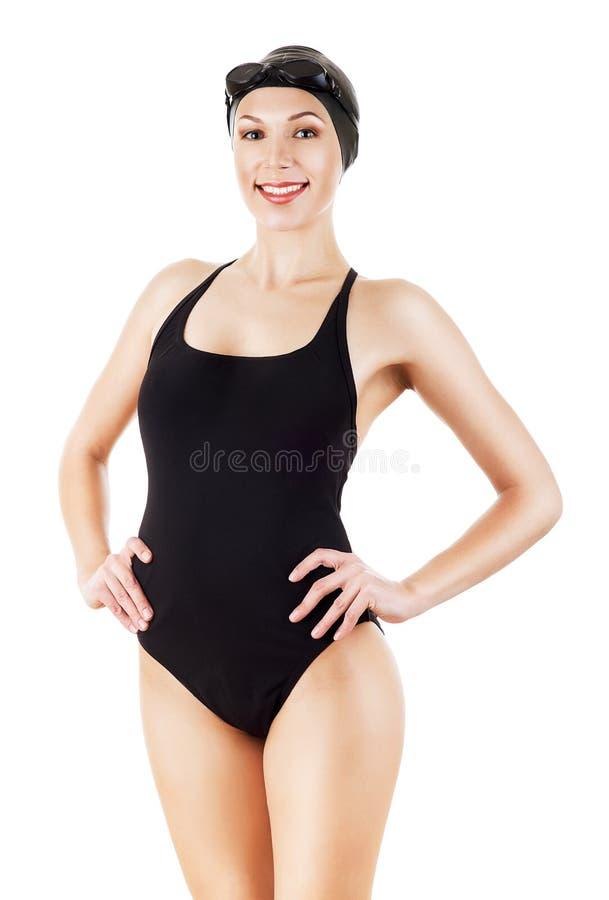 Nadador lindo sonriente imagen de archivo libre de regalías