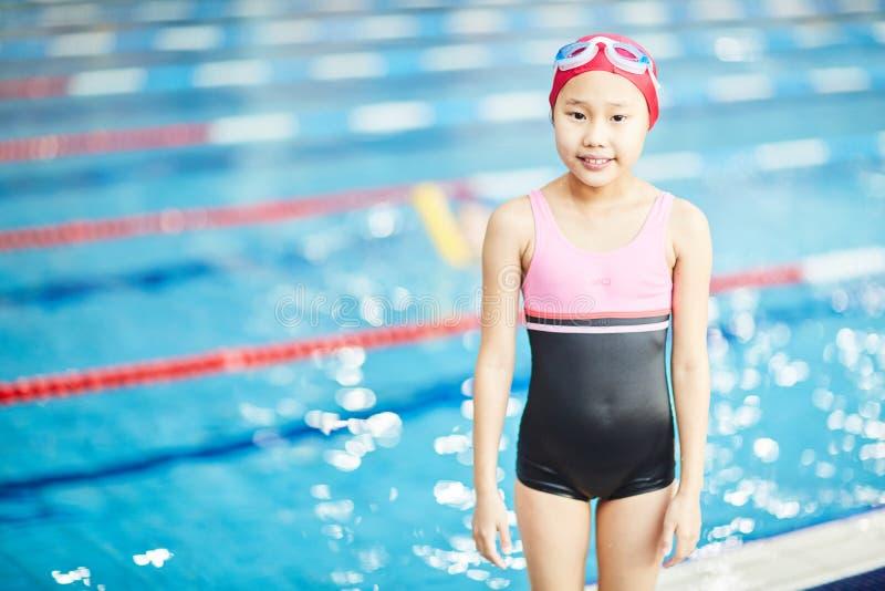Nadador pequeno foto de stock