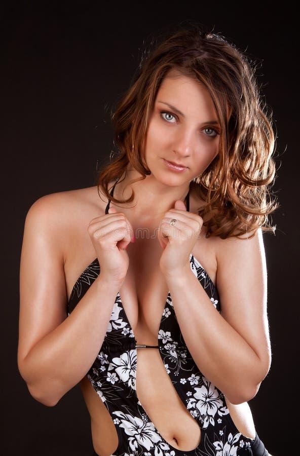 Nadador 'sexy' no estúdio fotos de stock royalty free