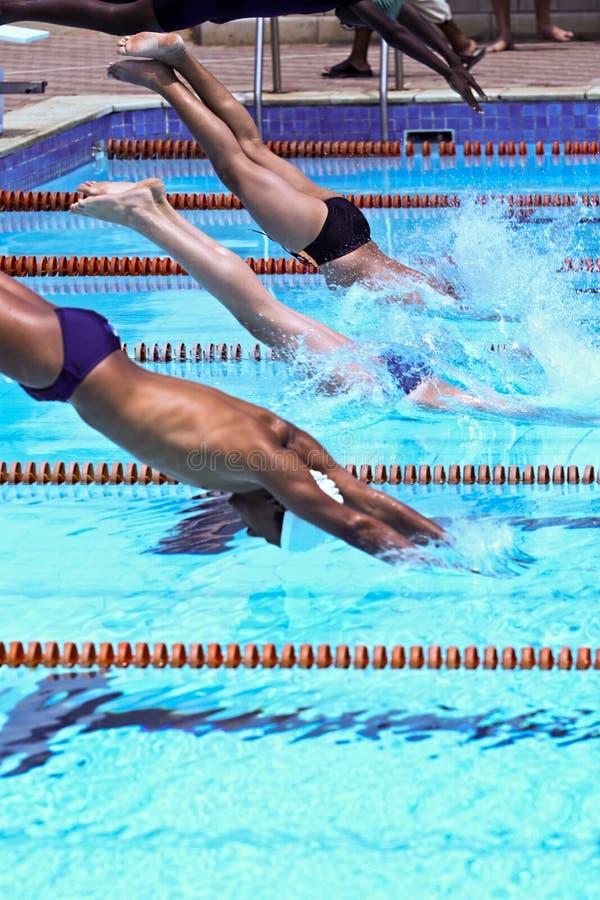 Nadadores imagenes de archivo