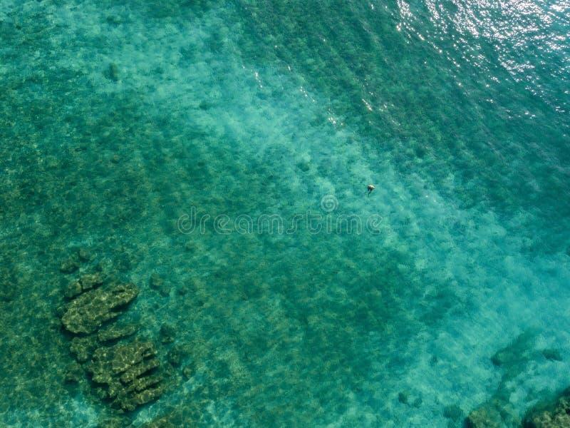 Nadadores, bañistas que flotan en el agua Silueta del hombre de negocios Cowering fotos de archivo libres de regalías