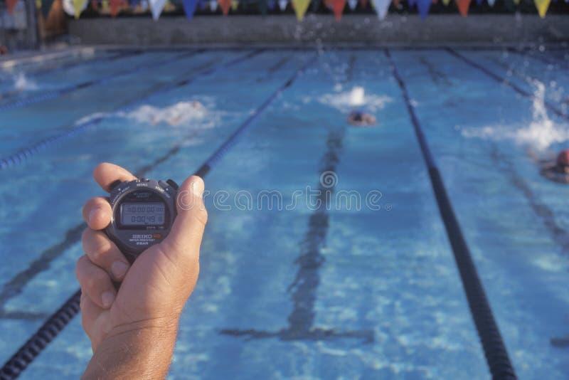Nadadores de la sincronización del coche, imágenes de archivo libres de regalías