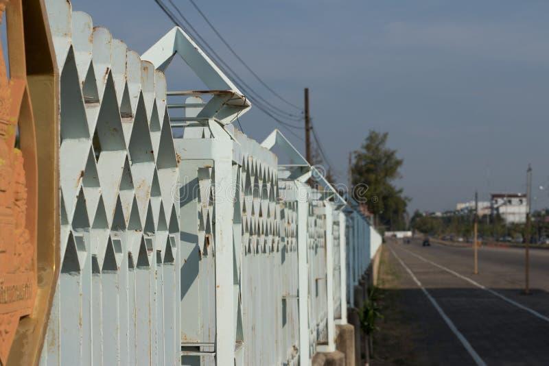 Nadal ogrodzenie uniwersytetu Chonkaen zdjęcie royalty free