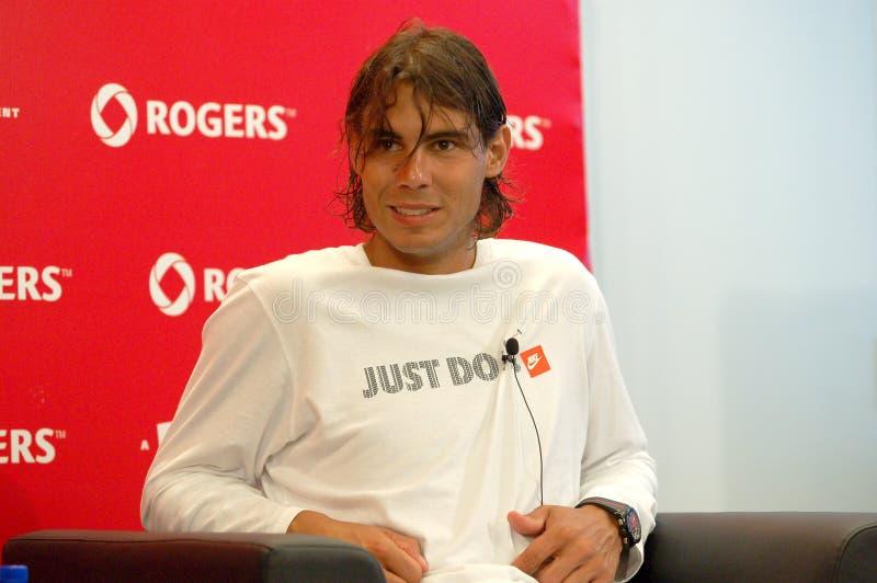 Nadal Rafaël à la cuvette 2008 (12a) de Rogers photos libres de droits