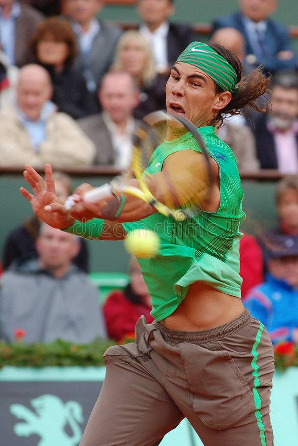 Nadal Rafaël # 1 dans le monde (1) images libres de droits