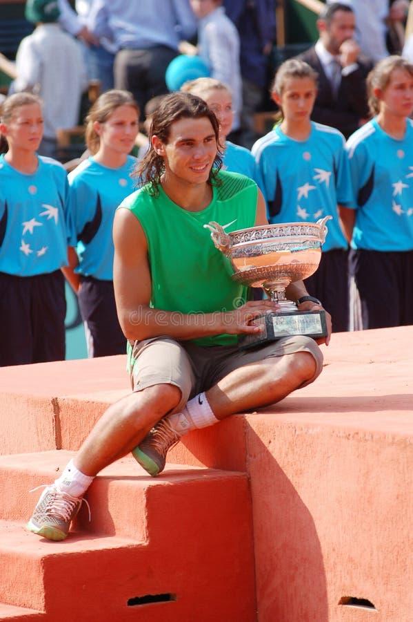 Nadal Rafaël # 1 dans le monde (12) image stock