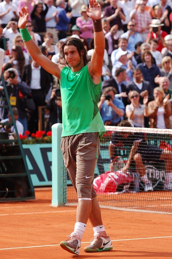 Nadal Rafaël # 1 dans le monde (6) image stock
