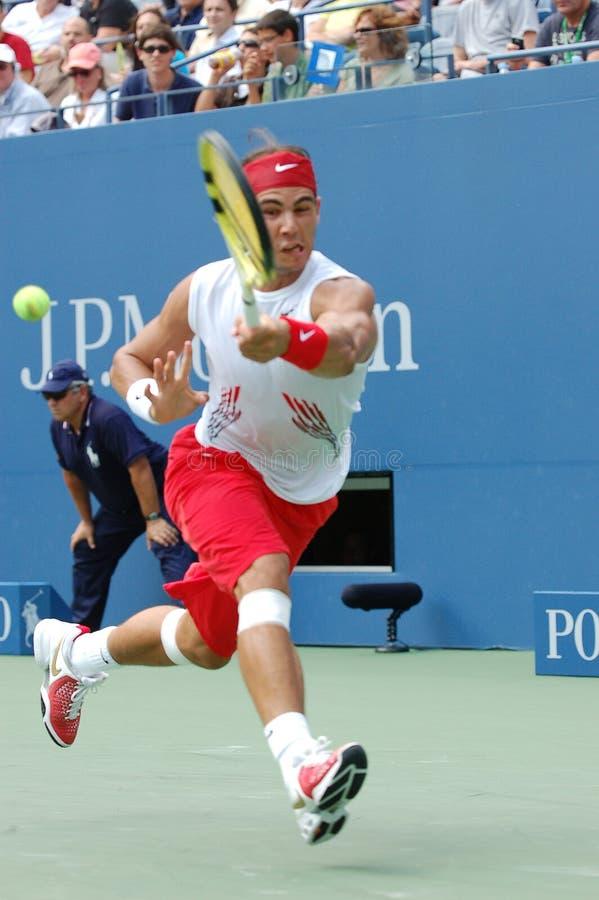 Nadal Rafaël aux USA ouvrent 2008 (13) photo libre de droits