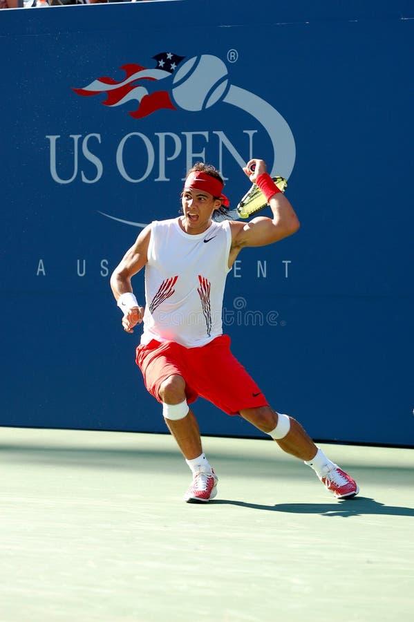 Nadal Rafaël aux USA ouvrent 2008 (153) photo libre de droits