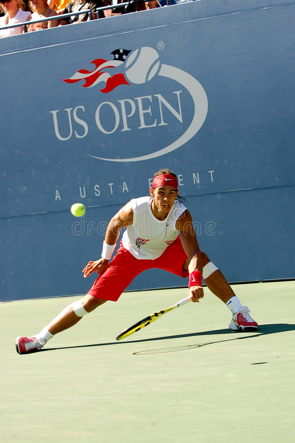 Nadal Rafaël aux USA ouvrent 2008 (97) images stock